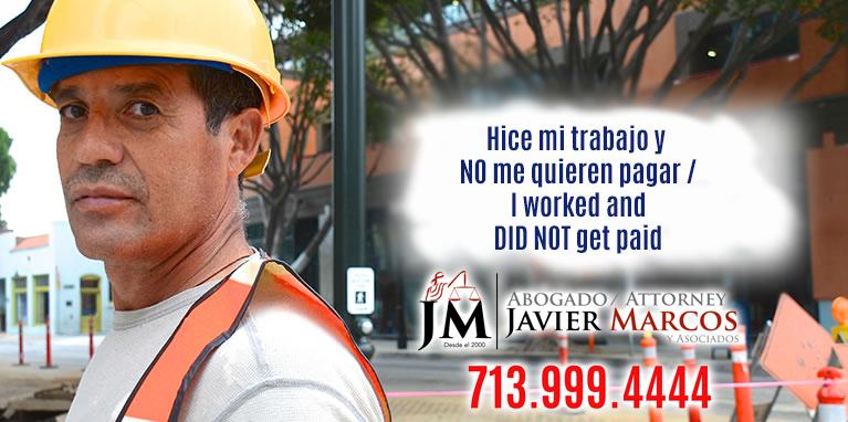 Lien Construccion | Abogado Javier Marcos | 713.999.4444